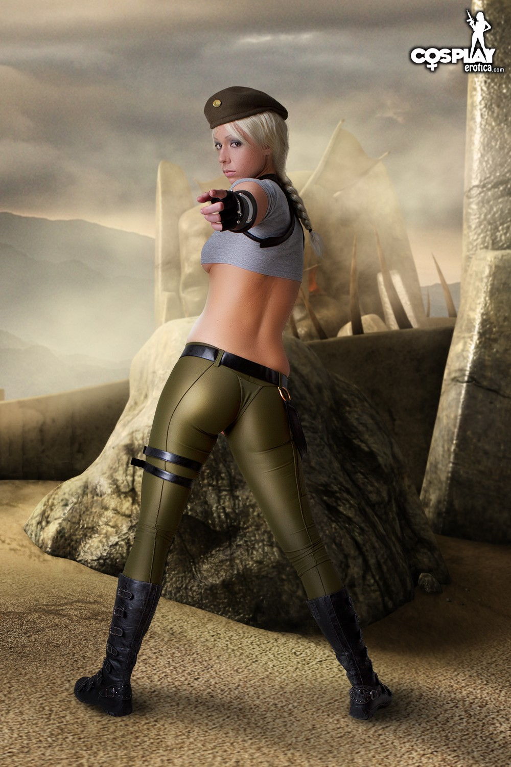 Mortal kombat 9 sonya blade nude costume nackt photo