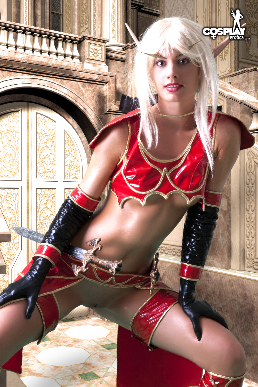 World of warcraft blood elf cosplay nude erotic bisexual babe
