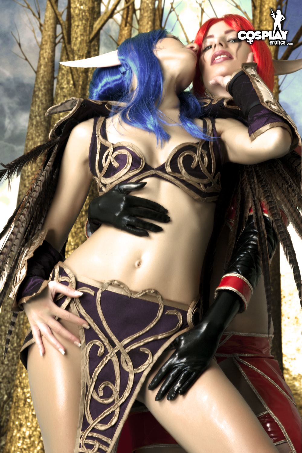 Naked blue elf cosplay xxx picture